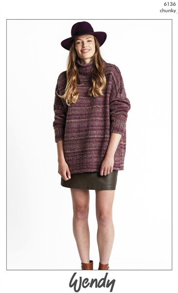 Wendy Botanics Chunky Pattern 6136 - Textured Sweater