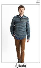Wendy Botanics Chunky Pattern 6138 - Mans Sweater