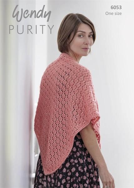 Wendy Purity Pattern 6053 - Lace Shawl