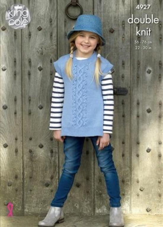 King Cole Majestic DK Pattern 4927 - Girls' Tabards