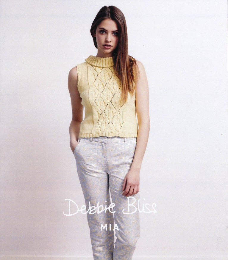 Debbie Bliss Mia DK Pattern DB019 - Sleeveless Top - NOW €4.50 - NOW €2.50