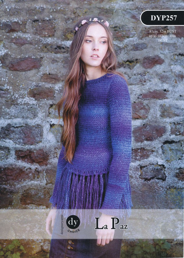 DY Choice La Paz Pattern DYP257 - Fringed Sweater - NOW 1.00