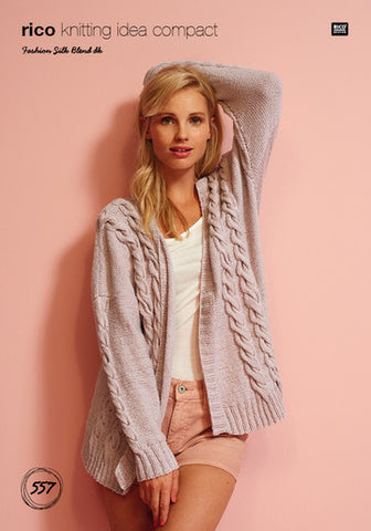 Rico Fashion Silk Blend DK Pattern 557 - Cardigan