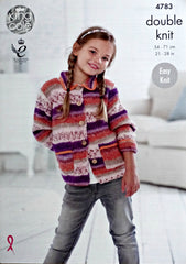 King Cole Splash DK Pattern 4783 - Cardigans