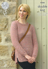 King Cole Panache DK Pattern 4266 - Cardigan & Sweater