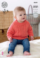King Cole Comfort Aran Pattern 4644 - Cardigans & Sweaters