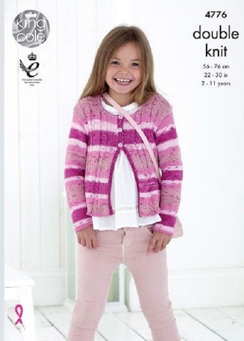 King Cole Cottonsoft Crush DK Pattern 4776 - Cardigans