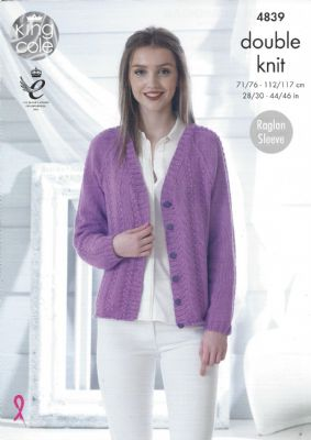 King Cole Cottonsoft DK Pattern 4839 - Cardigan and Sweater