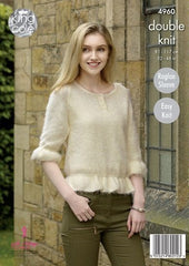 King Cole Embrace DK Pattern 4960 - Cardigan & Sweater