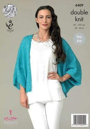 King Cole Galaxy DK Pattern 4409 - Cardigan & Top