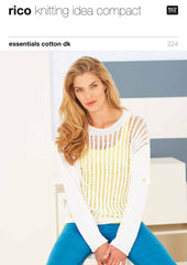 Rico Essentials Cotton DK Pattern 224 - Lacy Top & Sweater