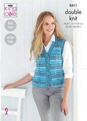 King Cole Island Beaches DK Pattern 5611 - Waistcoat & Slipover