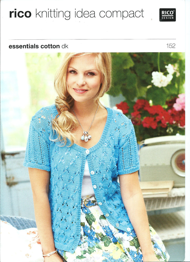 Rico Essentials Cotton DK Pattern 152 - Lacy Cardigans