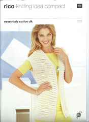 Rico Essentials Cotton DK Pattern 222 - Long & Short Waistcoats