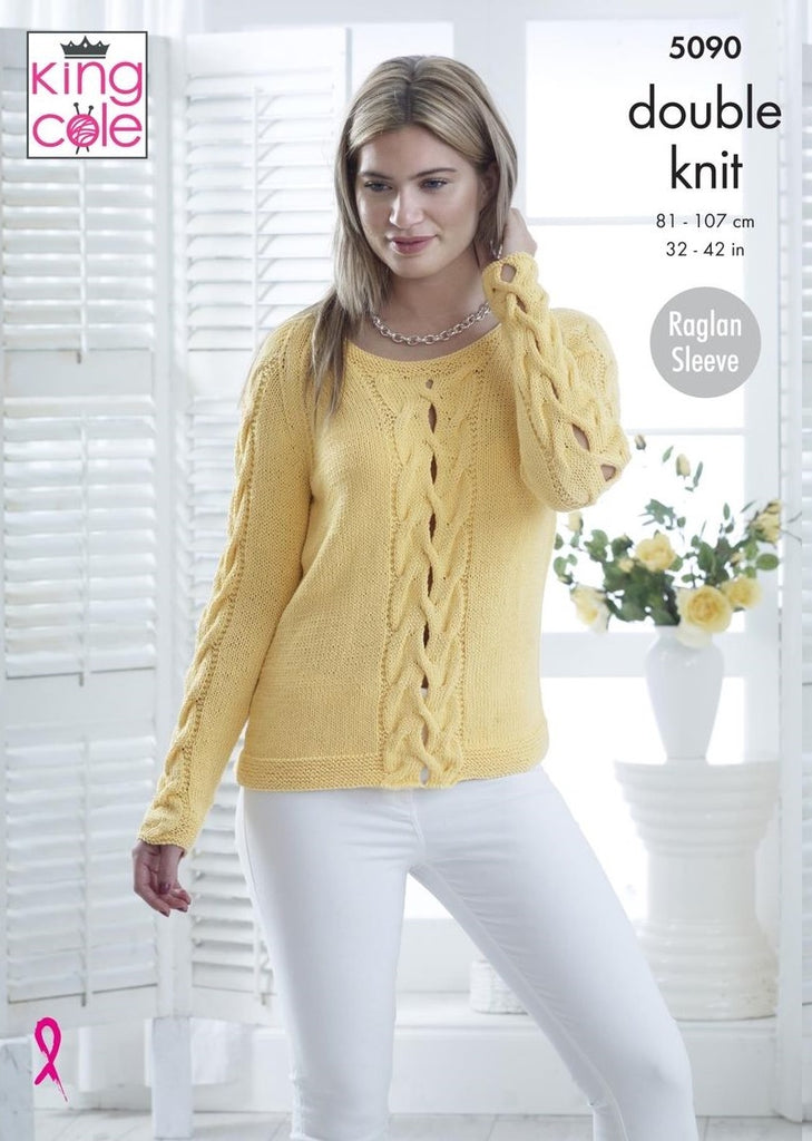 King Cole Bamboo Cotton DK Pattern 5090 - Sweater & Top