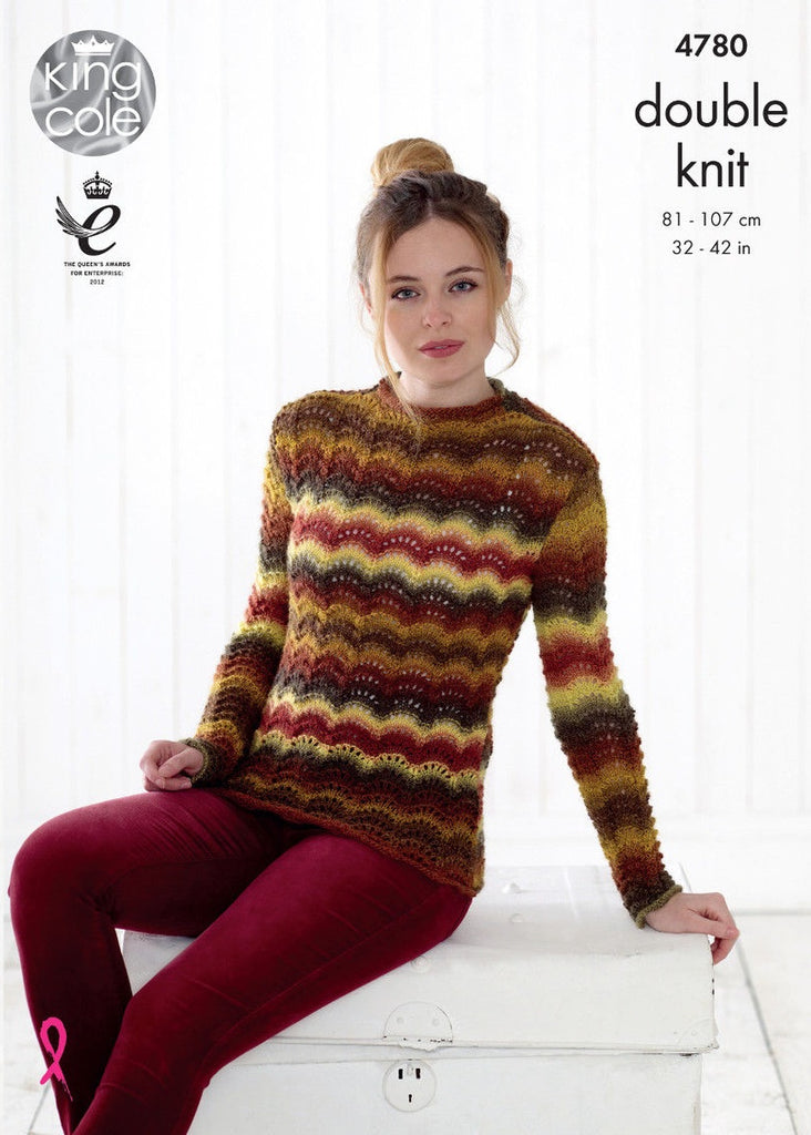 King Cole Riot DK Pattern 4780 -  Sweater & Cardigan