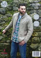 King Cole Majestic DK Pattern 4925 - Mens Sweater & Jacket