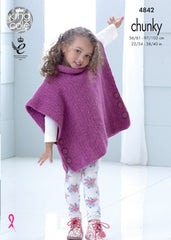 King Cole Big Value Chunky Pattern 4842 - Tabbards