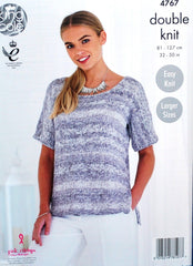 King Cole Vogue DK Pattern 4767 - Ladies' Tops