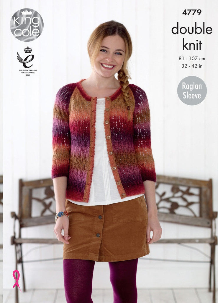 King Cole Riot DK Pattern 4779 -  Sweater & Cardigan
