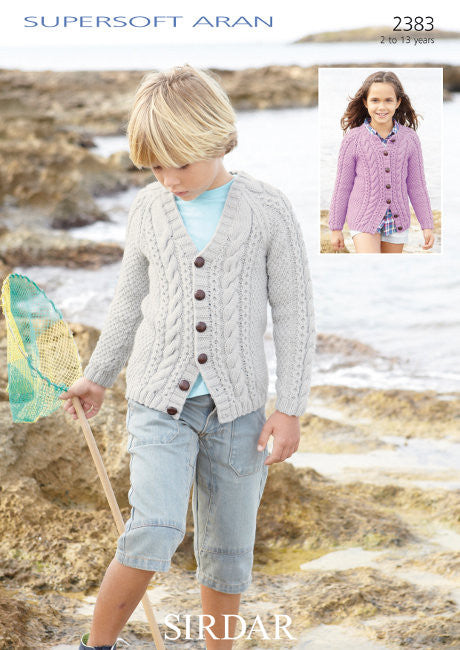 Sirdar Supersoft Aran 2383 - Cabled Cardigans