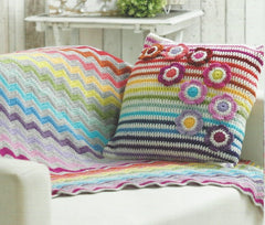 Stylecraft Life DK Pattern 9091 - Blanket, Cushion & Bunting