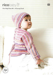 Rico Baby Dream DK - A Luxury Touch Pattern 691 - Wrapover Cardigan & Hat