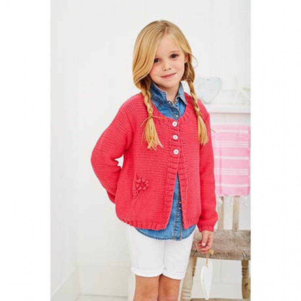 Stylecraft Classique Cotton Pattern 9258 - Girls' Cardigans
