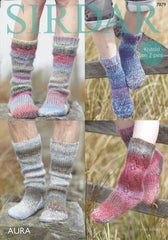 Sirdar Aura Chunky Pattern 7879 - Socks Knitted on 2 pins