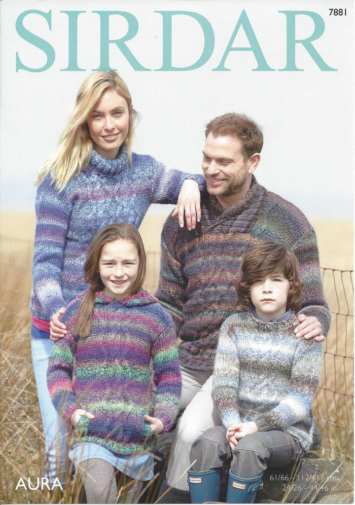 Sirdar Aura Chunky Pattern 7881 - Sweaters