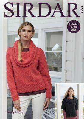 Sirdar Temptation Chunky Pattern 8203 - Sweaters