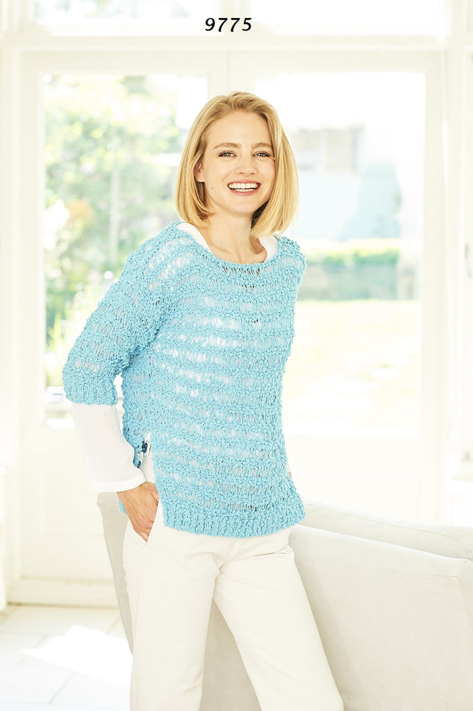 Stylecraft Pearls DK Pattern 9775 - Sweater & Cardigan