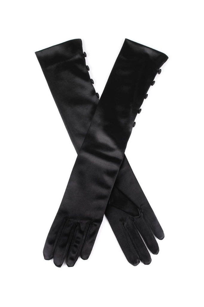 Occasion mid length satin gloves