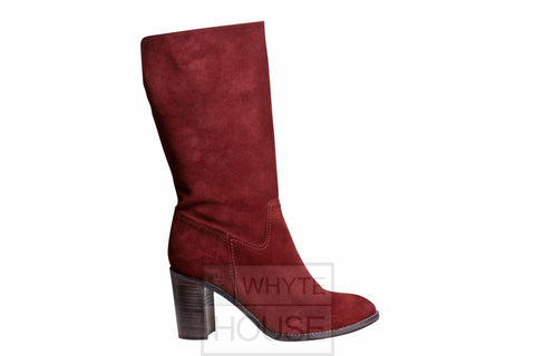 Pepe Castell Wine Mid Calf Boot