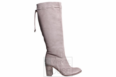 Pepe Castell Grey Tassle Top Knee Boots