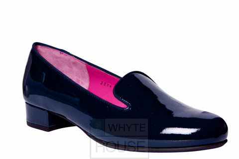 Le Babe - Navy Flat Patent Shoes