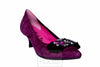 Le Babe - Plum Suede Kitten Heel with Jewel