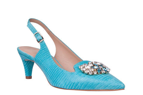 Pepe Castell Turquoise Sling Back