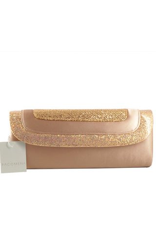 Clutch decorated in sparkling champagne glitter