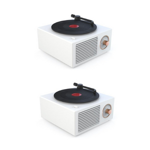 (2 Pack) Retro Bluetooth Record Player