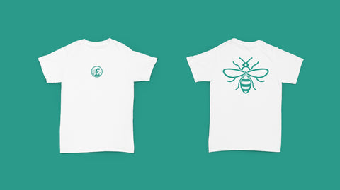 CC: Manchester Bee Tee (White) PRE ORDER