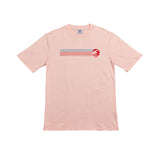 Crepe City Mountain Stripe T Shirt Pink