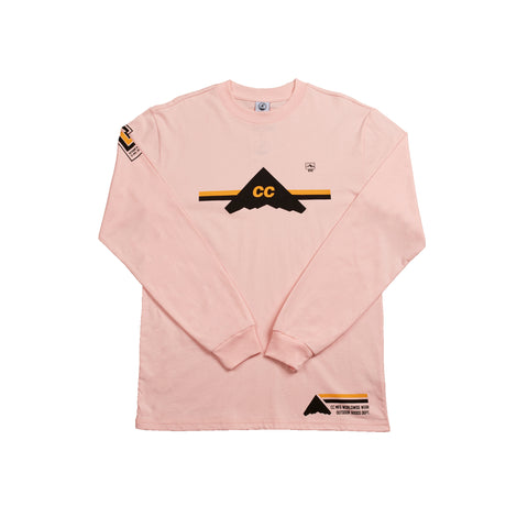 Crepe City Mountains Team Long Sleeve Pink