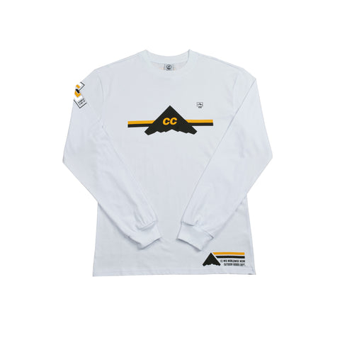 *CLEARANCE* Crepe City Mountains Team Long Sleeve White