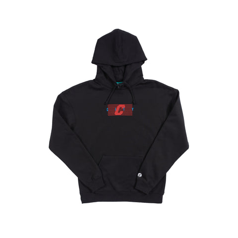 City Stripe Hood - Black
