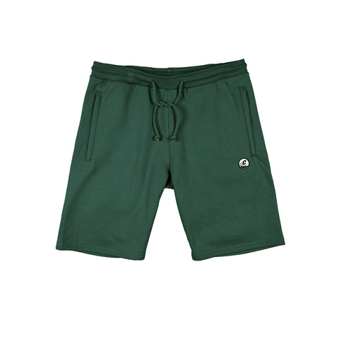 CREPE CITY: Shorts - Bottle Green