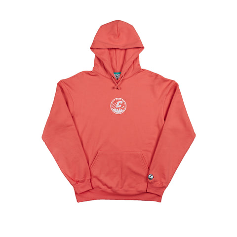 *CLEARANCE* CREPE CITY: Medallion Hood - Coral