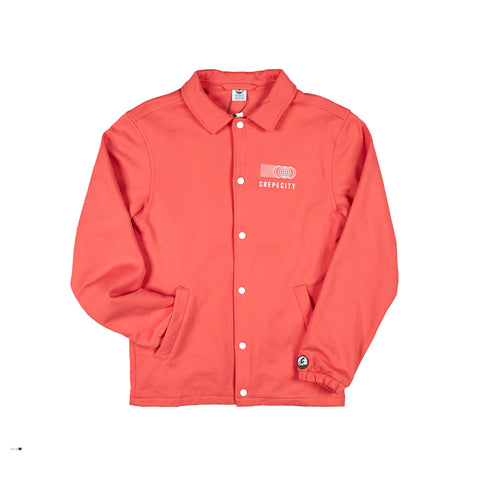 "Crepe City ""Coral"" Coach Jacket"