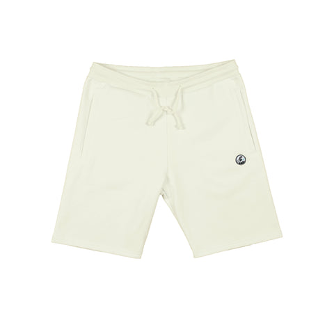 CREPE CITY: Shorts - Ecru