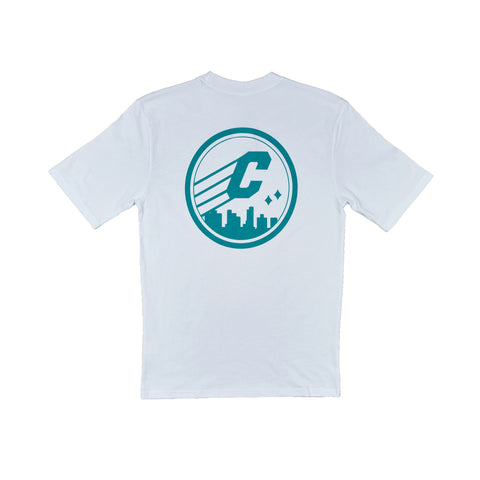 CREPE CITY: Medallion Tee - White